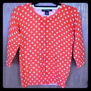 Bright Orange polka dot sweater!